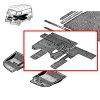 Tapis de sol pour Renault Estafette. Couleur grise. Pour Estafette jusqu'en 1969.
