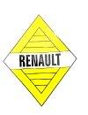 Ancien logo Renault pour Renault R4 4L ou Renault Estafette, hauteur 10 cm, autocollant.