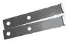 Rear bracket for fuel tank protection plate for Renault R4 4L. Pair.