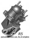 Pompe à essence pour Renault R4 4L avec moteur de R5. Dans le cas d'un SWAP moteur.