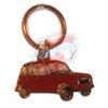 Porte Clés motif Renault R4 4L en profil. Couleur rouge.