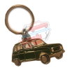Keychain Renault R4 4L motif in profile. Green color.