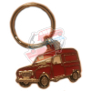 Keychain Renault R4 4L motif in profile. Red F4 van.