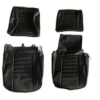 Passenger and Driver Seat Covers Kit for Renault R4 4L F4 and F6 Van. Black skai. Folding passenger seat.