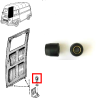 Set of 2 lower wheeles for Renault Estafette for sliding door loading.