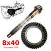 8x40 crown wheel and pinion for Renault Estafette, equivalent to 7x35.