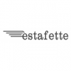 Logo Renault Estafette, 50 cm de long, Blanc.