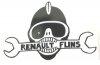 """Sticker Renault R4 4L or Renault Estafette - May 68 - """"Renault Flins"""""""