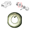 Rear bearing lock ashew for Renault R4 4L and Renault Estafette