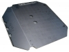Fuel tank protection plate for Renault R4 4L.