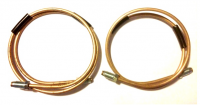 Rigid rear hoses set on suspension arm for Renault R4 4L. Left and right side.
